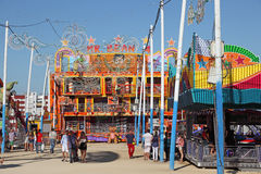 Summer fair in Algeciras, Spain Stock Photos
