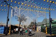 Summer fair in Algeciras, Spain Royalty Free Stock Image