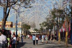 Summer fair in Algeciras, Spain Royalty Free Stock Photos