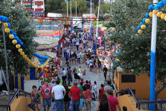 Summer fair in Algeciras, Spain Stock Photo