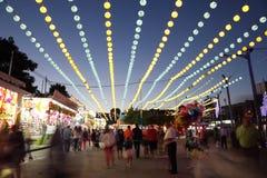 Summer fair of Algeciras, Spain Stock Images