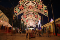Summer fair of Algeciras, Spain Royalty Free Stock Photography