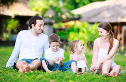 Summer family portrait Stock Photos