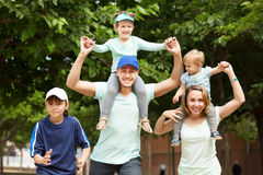 Summer family portrait in the park Royalty Free Stock Images