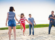 Summer family vacation Stock Image