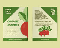 Summer Farm Fresh poster, template or brochure Stock Photography