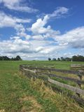 Summer on the farm. Home town farm Stock Images