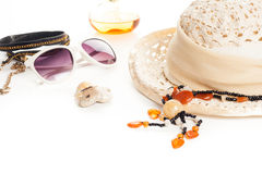 Summer fashion accessories Stock Photos