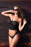Summer fashion on beach Royalty Free Stock Photo
