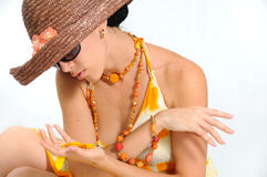 Summer fashion beauty Stock Image