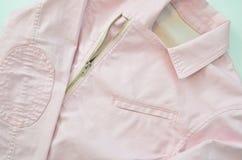 Summer fashion color denim jacket Royalty Free Stock Images