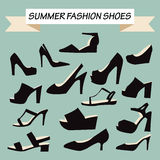 Summer Fashion female Shoes Stock Image