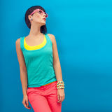 Summer fashion Girl Stock Images