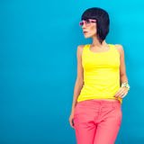 Summer Fashion Girl Stock Photo