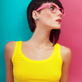 Summer fashion girl portrait Stock Images