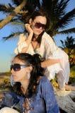 Summer fashion girls Stock Image