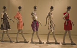 Summer Fashion Models. Five fashion mannequin models strutting royalty free stock photos