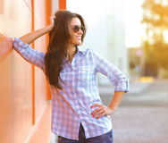 Summer, fashion and people concept - beautiful woman Stock Photos