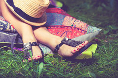 Summer fashion sandals Royalty Free Stock Photos