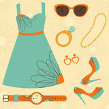 Summer fashion set Royalty Free Stock Photos