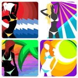 Summer fashion vector Royalty Free Stock Images
