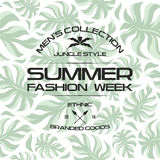 Summer fashion week flyer and seamless pattern Royalty Free Stock Images