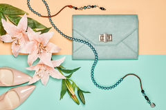 Summer Fashion woman accessories set, lily flowers Stock Images
