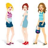 Summer Fashion Women vector illustration