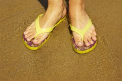 Summer feet Royalty Free Stock Photo