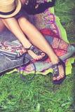 Summer female sandals Stock Images