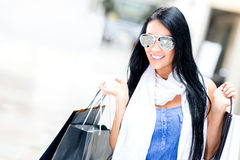 Summer female shopper Royalty Free Stock Photos