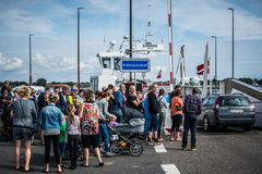 Summer ferry - Denmark Royalty Free Stock Photography