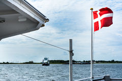 Summer ferry sailing - Denmark Stock Images