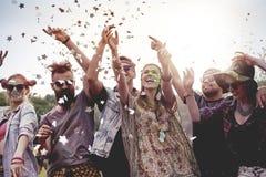 Summer festival. Celebrating festival on fresh air royalty free stock photo