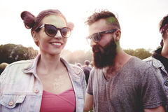 Summer festival. Dancing people at the summer festival Royalty Free Stock Photography