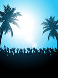 Summer festival with palm trees Stock Photo