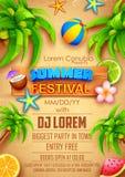 Summer Festival poster design. Illustration of Summer Festival poster design Stock Image