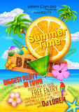 Summer Festival poster design. Illustration of Summer Festival poster design Stock Photography