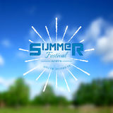 Summer festival realistic badge. EPS10 Royalty Free Stock Image