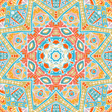 Summer festive colorful ethnic tribal pattern Stock Images