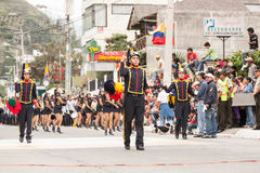 Summer Festivities Event. Banos De Agua Santa, Ecuador - 26 July 2015: Summer Break Is Marked By The Festivity Put Together By The School Students In Banos De Royalty Free Stock Photos