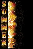 Summer fire banner, vector Royalty Free Stock Photography