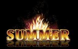 Summer fire flames, vector Stock Photo