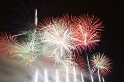 Summer fireworks show Royalty Free Stock Photo