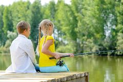 Summer fishing Royalty Free Stock Photo