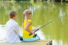 Summer fishing Royalty Free Stock Image