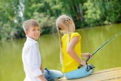 Summer fishing Royalty Free Stock Photos
