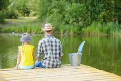 Summer fishing Royalty Free Stock Images
