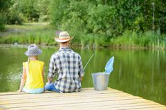 Summer fishing Royalty Free Stock Photography
