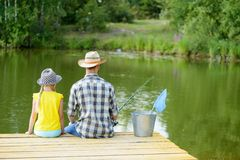Summer fishing Stock Images
